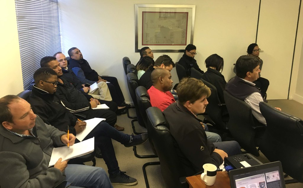 One training session was held in Cape Town, and another in Johannesburg.
